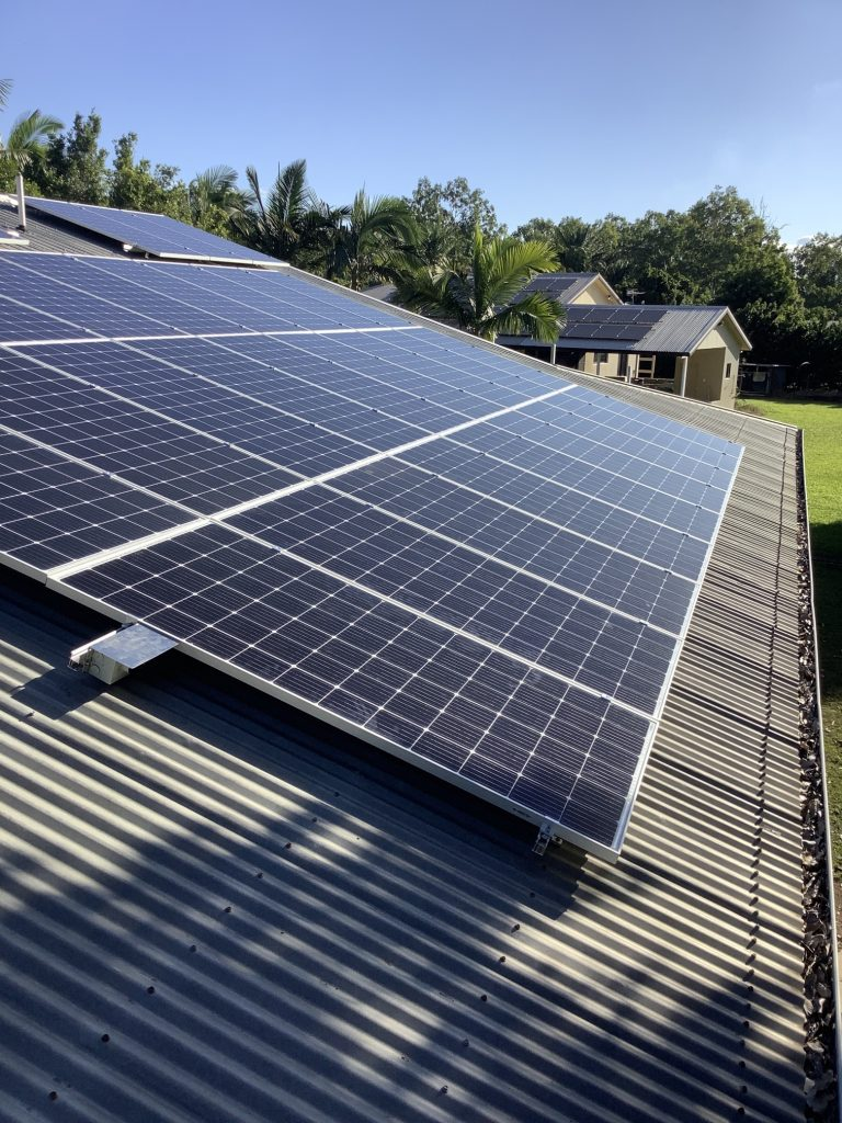 Solar panel installation by Harms Electrical Services